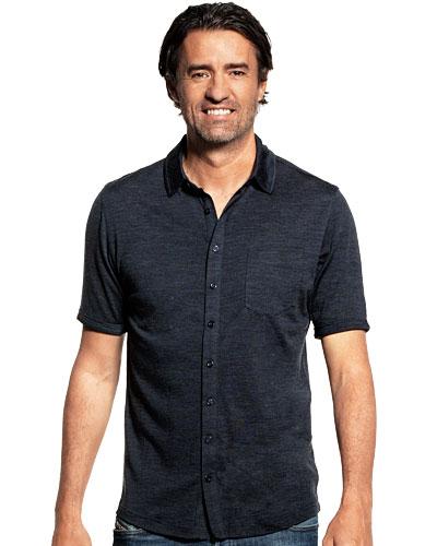 Shirt Button Up Short Sleeve