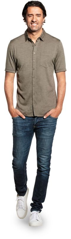 Joe Shirt Button Up Short Sleeve Clean Kaki