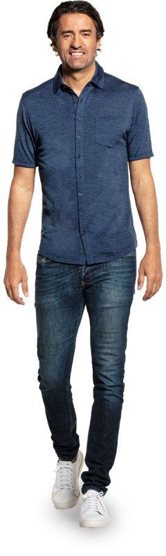 Joe Shirt Button Up Short Sleeve Coastal Blue