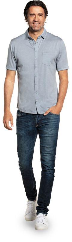 Joe Shirt Button Up Short Sleeve Early Sky