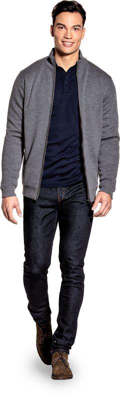 Joe Jacket Extra Long Harvard Grey