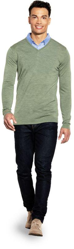 Joe V-neck Extra Long Agave Green