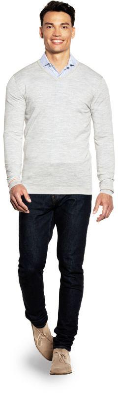Joe V-neck Extra Long Dover Grey