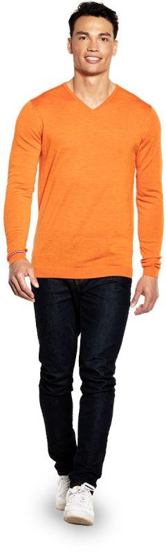 Joe V-neck Extra Long Dutch Orange