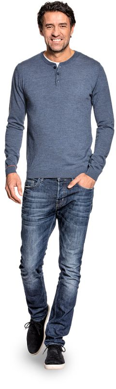 Joe Henley Jeans Blue