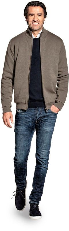 Jacket for men made of Merino wool in Green
