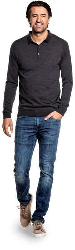 Riva Buttons Long Sleeve Antracite Grey