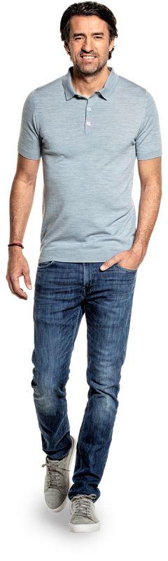 Riva Buttons Short Sleeve Hazy Blue