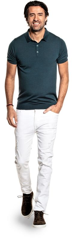 Riva Buttons Short Sleeve Proud Peacock
