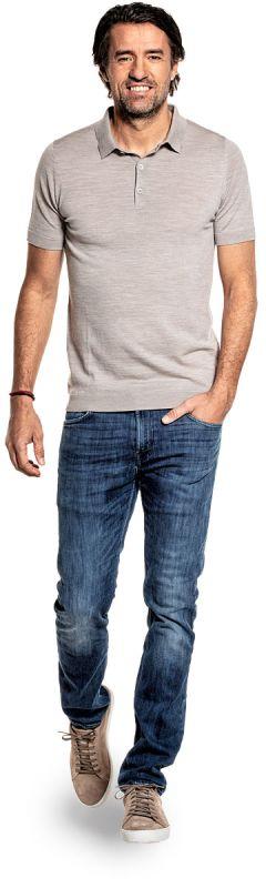 Riva Buttons Short Sleeve Windsor Beige