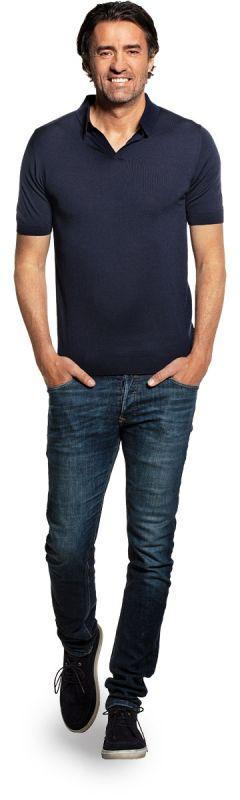 Joe Riva Short Sleeve Navy Blue
