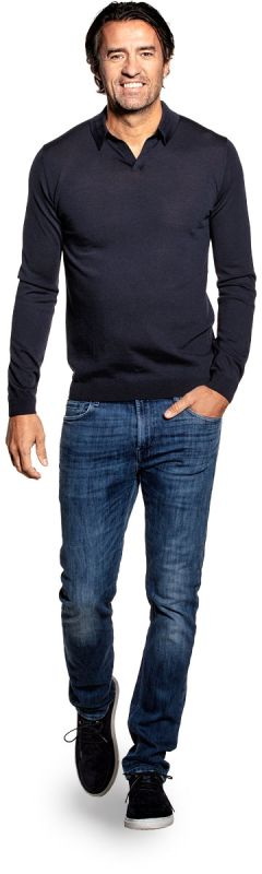 Joe Riva Long Sleeve Blue Grey