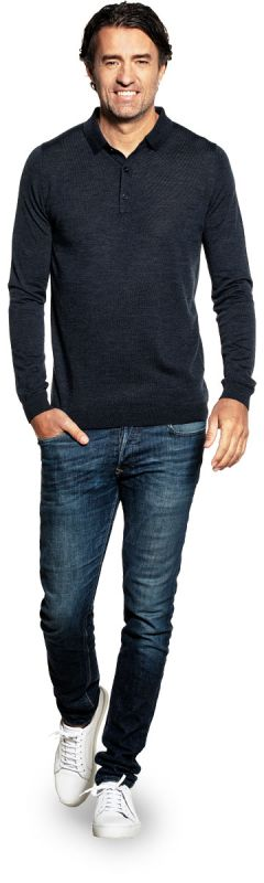 Riva Buttons Long Sleeve Blue Whale