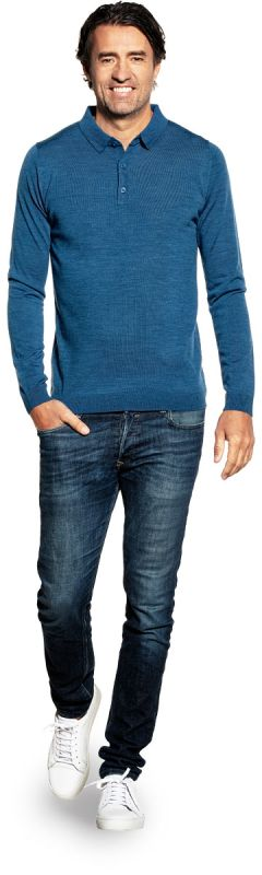 Riva Buttons Long Sleeve Federal Blue