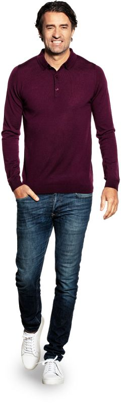 Riva Buttons Long Sleeve Red Cabbage
