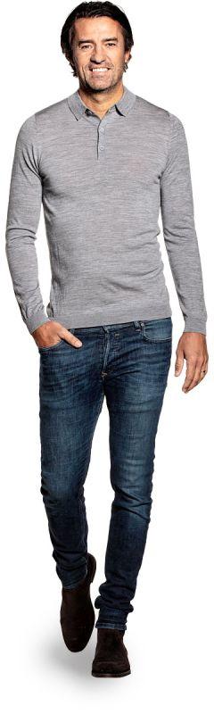 Joe Riva Buttons Long Sleeve Mid Grey
