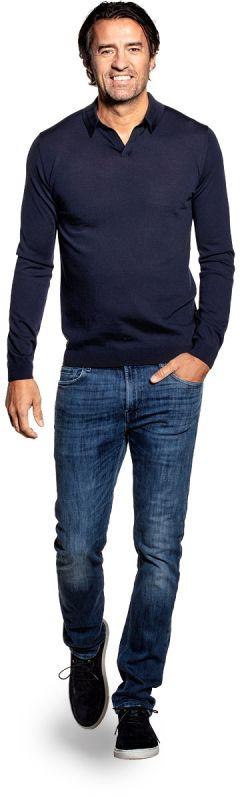Joe Riva Long Sleeve Navy Blue