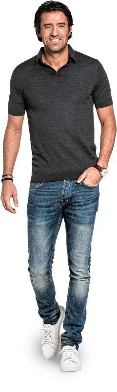 Joe Riva Short Sleeve Antracite Grey