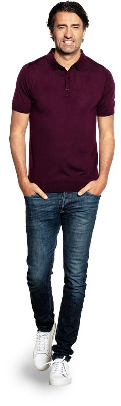 Riva Buttons Short Sleeve Red Cabbage