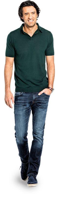 Joe Riva Short Sleeve Dark Green