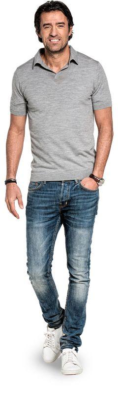 Joe Riva Short Sleeve Mid Grey