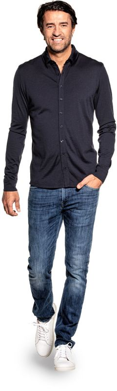 Joe Shirt Button Up Blue Grey