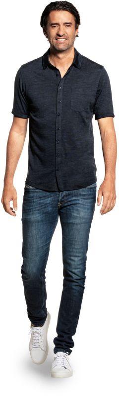 Joe Shirt Button Up Short Sleeve Blue Whale