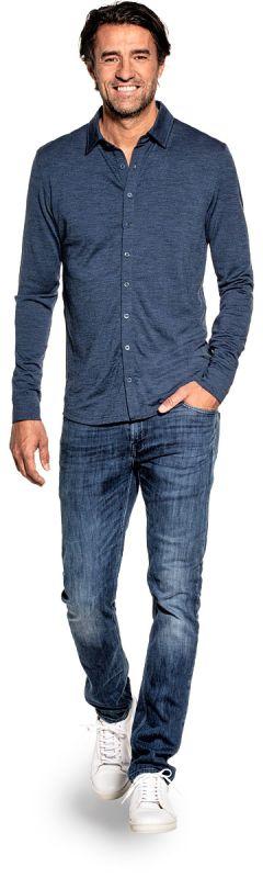 Joe Shirt Button Up Coastal Blue