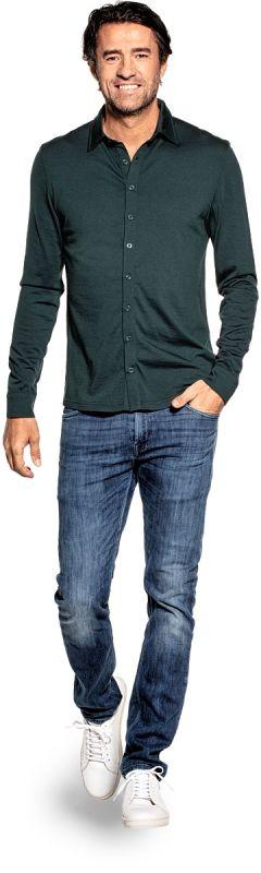Joe Shirt Button Up Dark Green