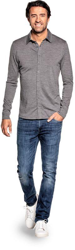Joe Shirt Button Up Grey Charcoal