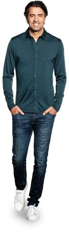 Joe Shirt Button Up Proud Peacock