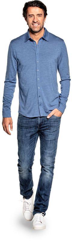 Joe Shirt Button Up Yacht Blue