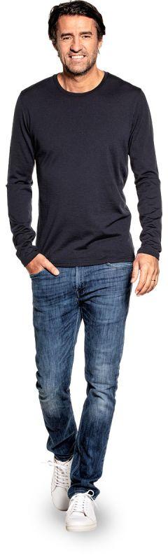 Shirt Long Sleeve Blue Grey
