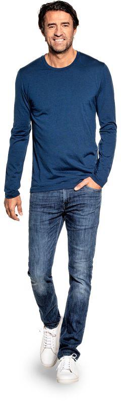 Shirt Long Sleeve Bright Blue