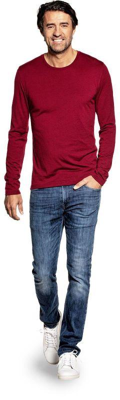 Shirt Long Sleeve Burgundy Red