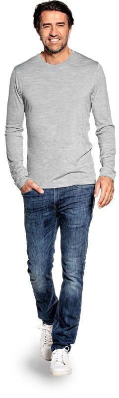Shirt Long Sleeve Clear Grey