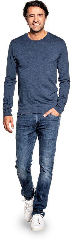 Shirt Long Sleeve Coastal Blue