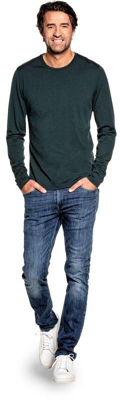 Shirt Long Sleeve Dark Green