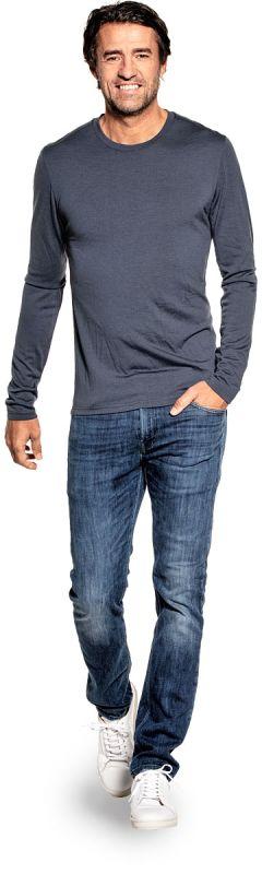 Shirt Long Sleeve Dark Steel