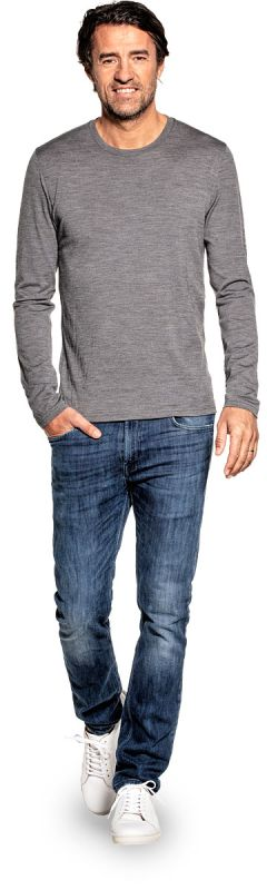 Shirt Long Sleeve Grey Charcoal