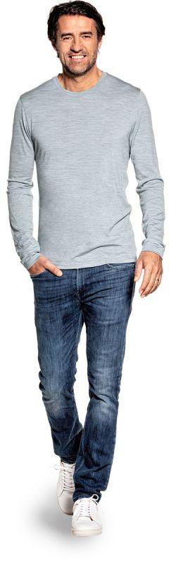 Shirt Long Sleeve Hazy Blue