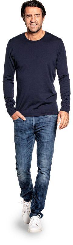 Shirt Long Sleeve Navy Blue