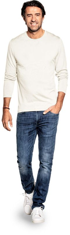 Shirt Long Sleeve Wool White