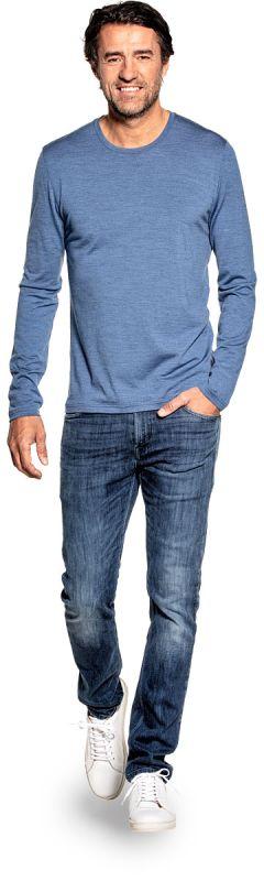Shirt Long Sleeve Yacht Blue