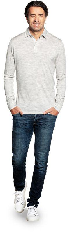 Shirt Polo Long Sleeve Dover Grey
