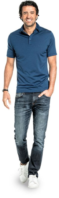 Shirt Polo Short Sleeve Bright Blue