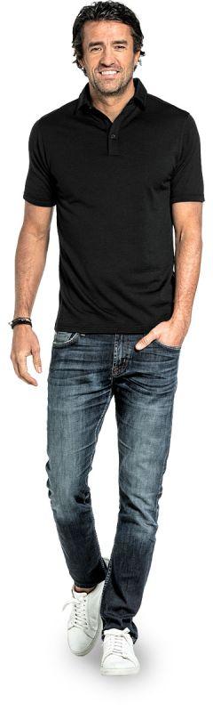 Shirt Polo Short Sleeve Deep Black