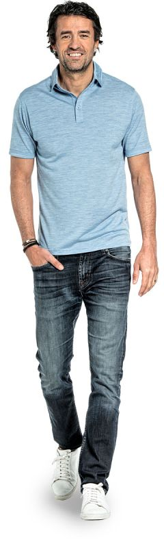 Shirt Polo Short Sleeve Glacier Blue