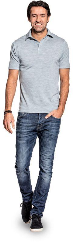 Shirt Polo Short Sleeve Hazy Blue