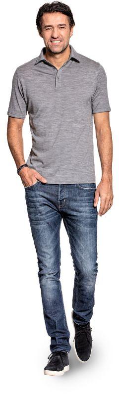Shirt Polo Short Sleeve Mid Grey